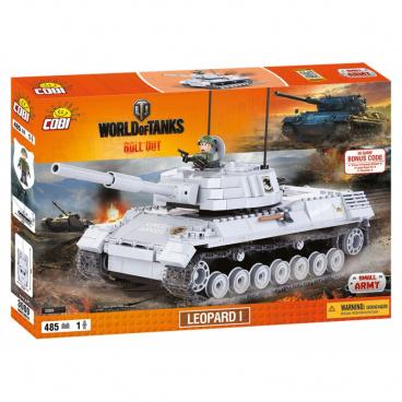 COBI World Of Tanks stavebnice tanku Leopard 1, 485 kostek, 1 f