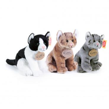 Rappa Plyšová kočka sedící 3 druhy 20 cm