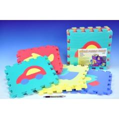 Pěnové puzzle Dopravní prostředky 30x30cm 10ks v sáčku