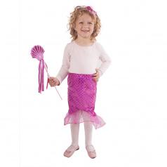 Rappa Dětská sukně mořská panna růžová