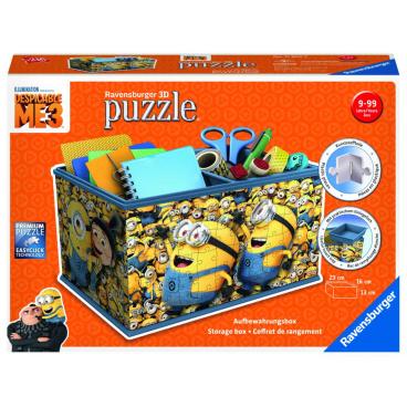 Ravensburger Úložná krabice Mimoňové: Já Padouch 3, 3D puzzle 216 dílků