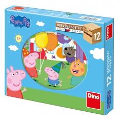 Dino kostky obrázkové Peppa Pig 12K