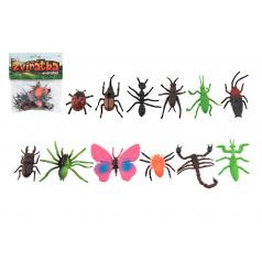 Teddies Hmyz / zvieratko mini plast 4-8cm 12 ks v sáčku