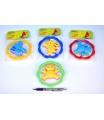 Profibaby Chrastítko Medvěd/Zajíc plast 12,5cm asst 4 barvy v sáčku 0m+