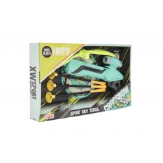 Teddies Pistole/kuše s lukem na přísavky plast 25cm + šípy 3ks v krabici 36x21x5cm
