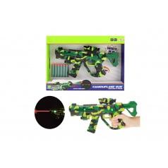 Teddies Pištoľ na penové náboje sa zameriavačem plast 32cm na bat. so svetlom a so zvukom v krabici 38x27x5