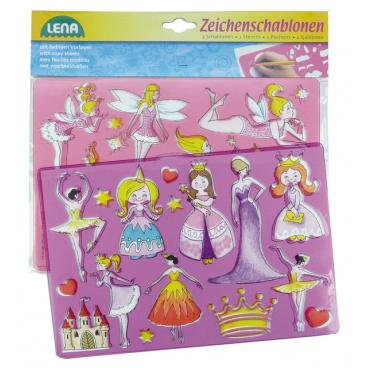 LENA Kreslící šablony ( princezny, baletky)