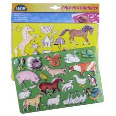 Lena Kresliace šablóny (kone, mačky)