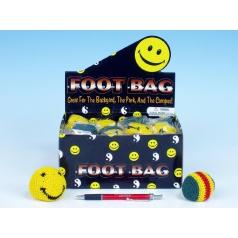 Hakysák loptička footbag 6cm háčkovaný textilné v sáčku 24ks v boxe