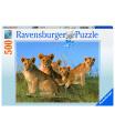 Ravensburger puzzle Lvíčí mláďata 500 dílků