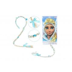 Teddies Súprava krásy čelenka s vrkočom 90cm Ľadová princezná na karte 35x18cmv sáčku karneval
