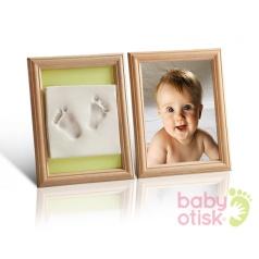 BABY OTISK - Sada pro otisk s barevnými paspartami – zelená, oranžová