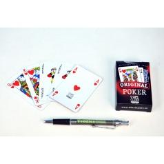Hrací karty, s.r.o. Poker společenská hra karty v papírové krabičce 6x9cm
