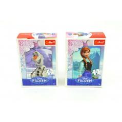 Minipuzzle Ledové království/Frozen 13x20cm 54 dílků asst 4 druhy v krabičce