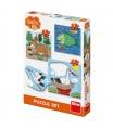 Dino puzzle dětské Zvířátka: Kde žijí 3-5 baby puzzle