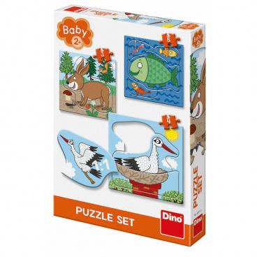 Dino Ostatní Dino puzzle dětské Zvířátka: Kde žijí 3-5 baby puzzle