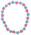 Detoa Dětský náhrdelník s růžovými a modrými srdíčky