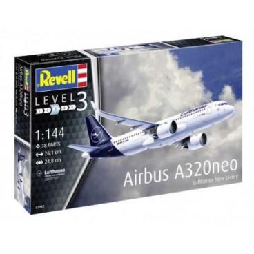 Revell Modelset letadlo 63942 - Airbus A320 neo Lufthansa (1:144)