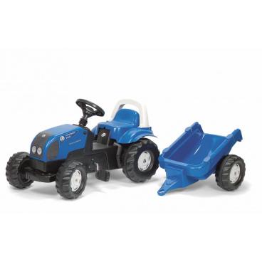 ROLLYTOYS Šlapací traktor Rolly Kid Landini modrý s vlekem