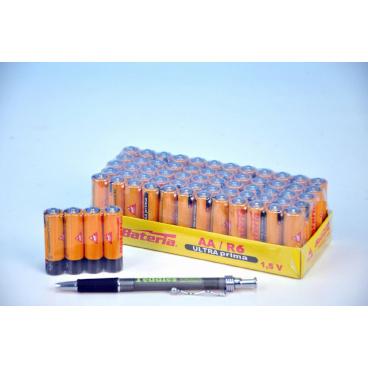 Baterie Ultra Prima R6/AA 1,5V, 4ks ve folii,zinkochloridové, cena za 1 kus