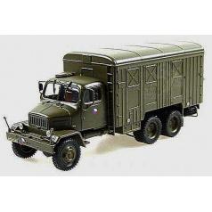 Abrex model auta Praga V3S 1:43 - skříňový vůz army