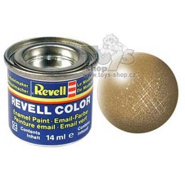 Revell emailová barva 32192 metalická mosazná