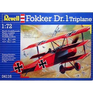 Revell Plastic ModelKit letadlo 04116 - 'Fokker DR. 1 Triplane (1:72)