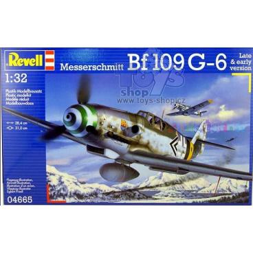 Revell Plastic ModelKit letadlo 04665 - Messerschmitt Bf109 G-6 (1:32)