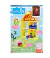 TM Toys PEPPA PIG - domeček se zahrádkou + figurka a příslušenstvím