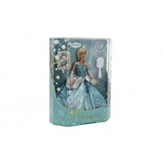 Panenka zimní princezna plast 28cm v krabici 27x33x8cm
