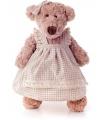 Lumpin plyš Medvěd Lumpinka v šatech - režné, střední 43 cm