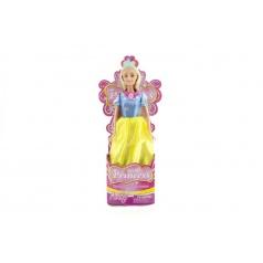 Panenka princezna plast 28cm asst 3 barvy v kornoutu