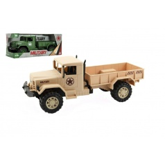 Auto vojenské nákladní plast 30cm asst 2 barvy