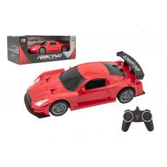 Teddies Auto RC sport plast 20cm červené na baterie 27MHz v krabici 26x10x12cm