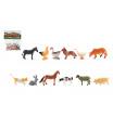 Teddies Zvířátka mini domácí farma plast 4-6cm 12ks v sáčku