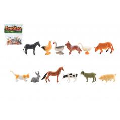 Teddies Zvieratká mini domáci farma plast 4-6 cm 12ks v sáčku
