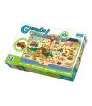Trefl Puzzle zvířátka Gigantic Staveniště 12ks v krabici 40x27x6cm 2+