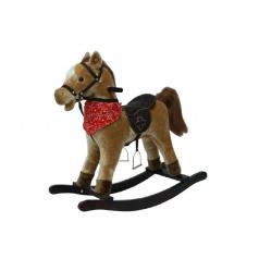 Teddies Kůň houpací hnědý plyš na baterie se zvukem a pohybem nosnost 50kg v krabici