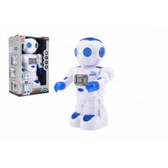 Teddies Robot jezdící plast 27cm EN mluvící na baterie se světlem se zvukem v krabici 18x28x11,5cm