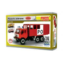 Stavebnice Monti 122 Tatra 815 Požární ochrana 1:48 v krabici 22x15x6cm