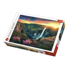 Trefl Puzzle Vodopád Háifoss, Island 2000 dílků 96x68cm v krabici 40x27x6cm