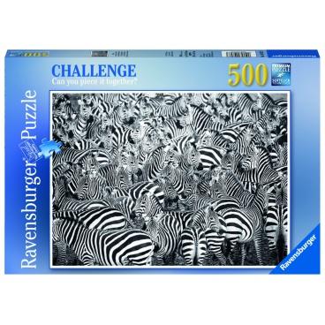 Ravensburger puzzle Výzva pro zebru 500 dílků