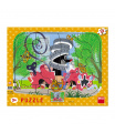 Dino puzzle dětské Krtek opravář 12D deskové