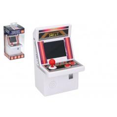 Automat hracej na arkádovej hry hlavolam plast na batérie 240 hier v krabici 10x21x10cm v sáčku