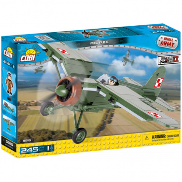 COBI Small Army stavebnice letadlo WW II PZL P-11 c, 250 k, 1 f