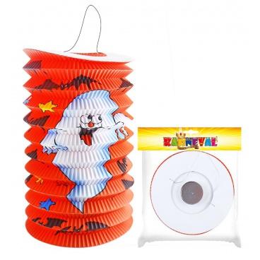 Lampion s duchem papírový Halloween 15cm