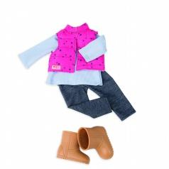 """Our Generation BD30209 Turistické oblečení s vestou - """"Trekingová hvězda"""""""