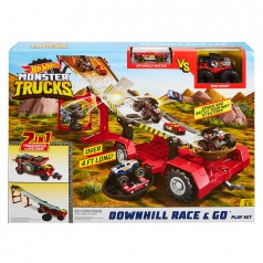 Hot Wheels HW MONSTER TRUCKS PRETEKY Z KOPCA 2V1