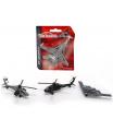 Majorette Air Squadron vojenský, kovový, 4 druhy