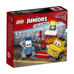 Lego Juniors 10732 Cars Zastávka v boxech Guida a Luigiho